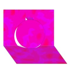 Simple Pink Circle 3d Greeting Card (7x5)