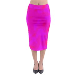 Simple Pink Midi Pencil Skirt by Valentinaart