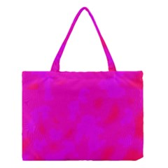 Simple Pink Medium Tote Bag by Valentinaart