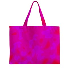 Simple Pink Medium Zipper Tote Bag by Valentinaart