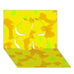 Simple Yellow Clover 3d Greeting Card (7x5)