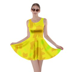 Simple Yellow Skater Dress