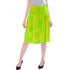 Simple Yellow And Green Midi Beach Skirt by Valentinaart