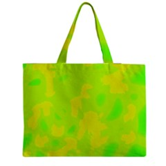 Simple Yellow And Green Medium Zipper Tote Bag by Valentinaart