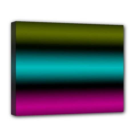 Dark Green Mint Blue Lilac Soft Gradient Deluxe Canvas 20  X 16   by designworld65