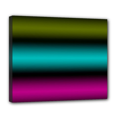 Dark Green Mint Blue Lilac Soft Gradient Deluxe Canvas 24  X 20   by designworld65