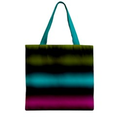 Dark Green Mint Blue Lilac Soft Gradient Zipper Grocery Tote Bag by designworld65