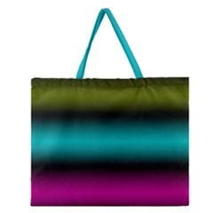 Dark Green Mint Blue Lilac Soft Gradient Zipper Large Tote Bag by designworld65