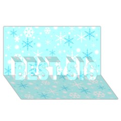 Blue Xmas Pattern Best Sis 3d Greeting Card (8x4) by Valentinaart