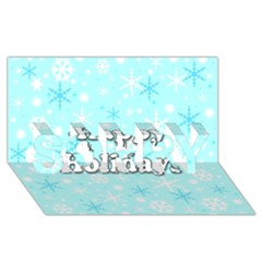 Happy Holidays Blue Pattern Sorry 3d Greeting Card (8x4) by Valentinaart