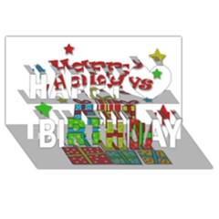 Happy Holidays   Gifts And Stars Happy Birthday 3d Greeting Card (8x4)