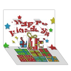 Happy Holidays   Gifts And Stars Love 3d Greeting Card (7x5) by Valentinaart