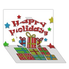 Happy Holidays   Gifts And Stars Circle 3d Greeting Card (7x5) by Valentinaart