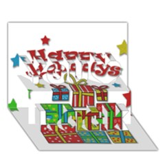 Happy Holidays   Gifts And Stars You Rock 3d Greeting Card (7x5) by Valentinaart