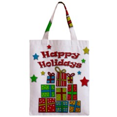 Happy Holidays   Gifts And Stars Zipper Classic Tote Bag by Valentinaart