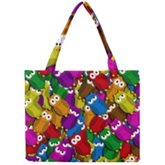 Cute Owls Mess Mini Tote Bag by Valentinaart