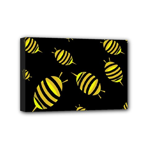 Decorative Bees Mini Canvas 6  X 4  by Valentinaart
