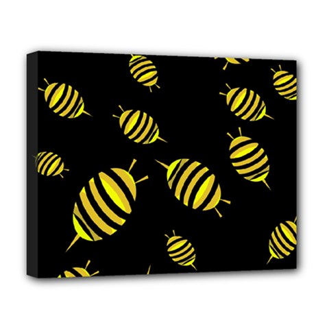 Decorative Bees Deluxe Canvas 20  X 16   by Valentinaart