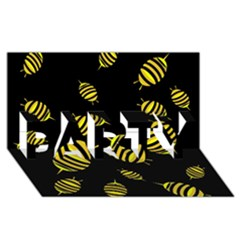 Decorative Bees Party 3d Greeting Card (8x4) by Valentinaart