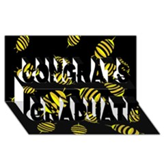 Decorative Bees Congrats Graduate 3d Greeting Card (8x4) by Valentinaart