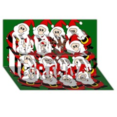 Did You See Rudolph? Happy Birthday 3d Greeting Card (8x4) by Valentinaart