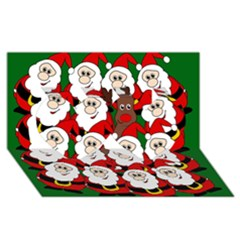 Did You See Rudolph? Twin Hearts 3d Greeting Card (8x4) by Valentinaart