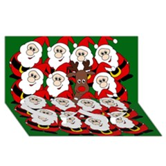 Did You See Rudolph? Twin Heart Bottom 3d Greeting Card (8x4) by Valentinaart