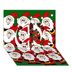 Did You See Rudolph? Peace Sign 3d Greeting Card (7x5) by Valentinaart