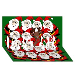 Did You See Rudolph? Best Sis 3d Greeting Card (8x4) by Valentinaart