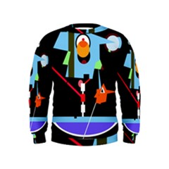 Abstract Composition  Kids  Sweatshirt