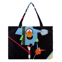 Abstract Composition  Medium Tote Bag by Valentinaart