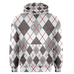 Fabric Texture Argyle Design Grey Men s Pullover Hoodie by AnjaniArt