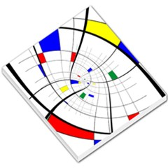 Swirl Grid With Colors Red Blue Green Yellow Spiral Small Memo Pads by designworld65