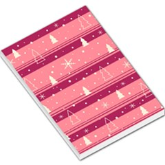 Pink Xmas Large Memo Pads by Valentinaart