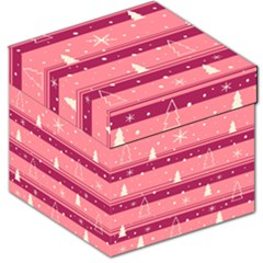 Pink Xmas Storage Stool 12   by Valentinaart