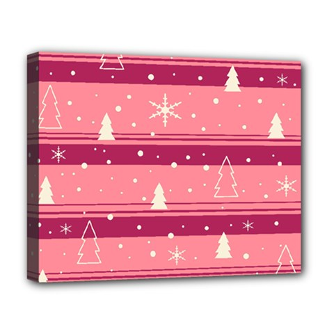 Pink Xmas Deluxe Canvas 20  X 16   by Valentinaart
