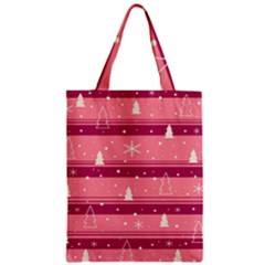 Pink Xmas Zipper Classic Tote Bag by Valentinaart