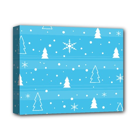 Blue Xmas Deluxe Canvas 14  X 11  by Valentinaart