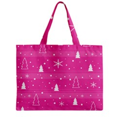 Magenta Xmas Mini Tote Bag by Valentinaart
