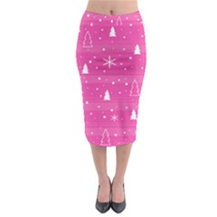Magenta Xmas Midi Pencil Skirt by Valentinaart