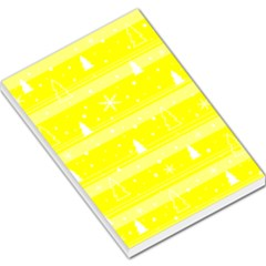 Yellow Xmas Large Memo Pads by Valentinaart