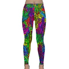 Hot Liquid Abstract A Yoga Leggings  by MoreColorsinLife