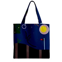 Abstract Night Landscape Zipper Grocery Tote Bag by Valentinaart