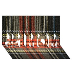 Fabric Texture Tartan Color  #1 Mom 3d Greeting Cards (8x4)