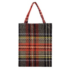 Fabric Texture Tartan Color  Classic Tote Bag by AnjaniArt