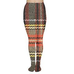 Fabric Texture Tartan Color  Women s Tights by AnjaniArt