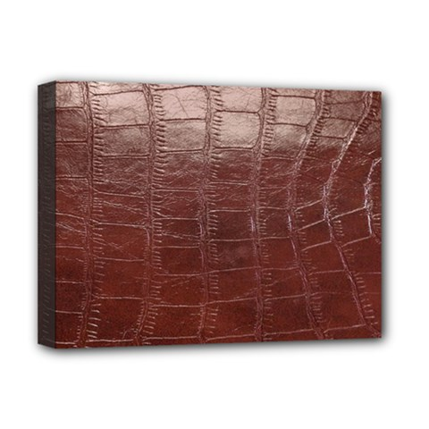 Leather Snake Skin Texture Deluxe Canvas 16  X 12