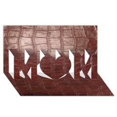 Leather Snake Skin Texture Mom 3d Greeting Card (8x4) by AnjaniArt