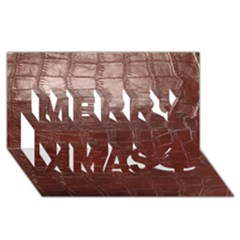 Leather Snake Skin Texture Merry Xmas 3d Greeting Card (8x4) by AnjaniArt