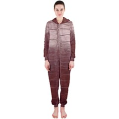 Leather Snake Skin Texture Hooded Jumpsuit (ladies)
